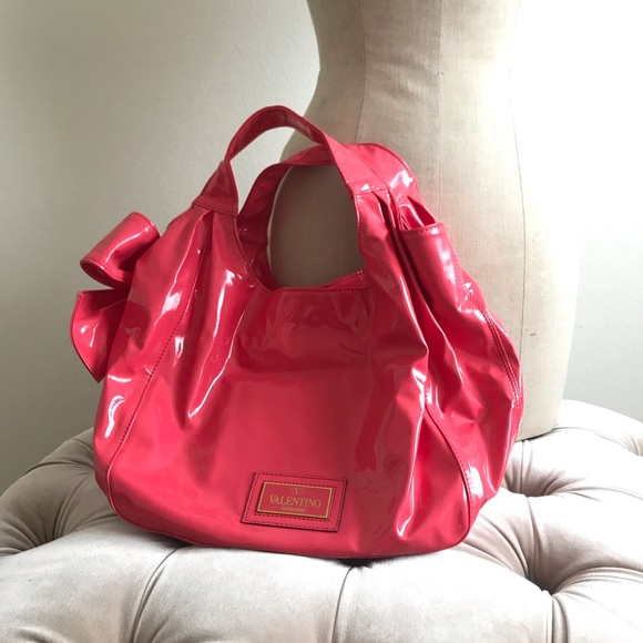 Valentino Handbags - Valentino Bag bow patent leather Pink